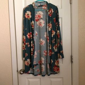 Sweaters - Floral cardigan